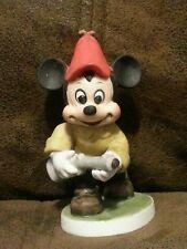 Vintage Mickey Mouse Hunting Ceramic Porcelain Figurine M18
