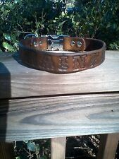 Personalized 100% Leather Dog Collar