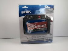 PEAK Mobile Power Outlet Inverter 800W 1600W peak Outlet 2x120V AC USB 5V 2Amp