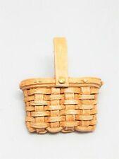 1989 Unsigned Longaberger Resin Mini Basket Pin