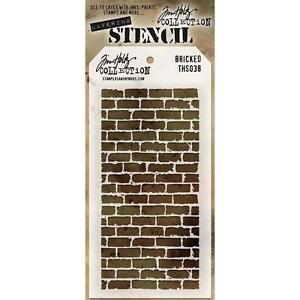 Tim Holtz Layering Stencil ~ BRICKED ~ THS038 ~ Stampers Anonymous