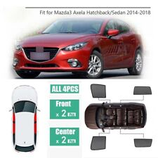 4Pcs Window Sunshade UV Ray Protector Mesh Block Privacy Visor For Mazda 3 Axela