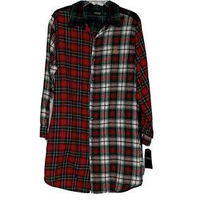 Ralph Lauren Flannel Pajama Shirt Mens XL Nightshirt Multicolor Plaid NEW