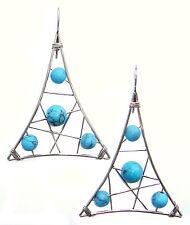 Boucles d'oreilles artisanale Turquoise Cadeau Femme Boucles d'oreille Turquoise