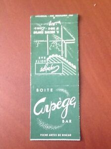 BOITE ARPEGE BAR - Rio - matchbook cover