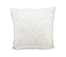 Cotton cushion Cover Applique Work White Pillow Decorative Throw Pillow Case