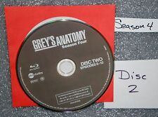 VG Blu Ray Replacement Disc # 2 Grey's Anatomy WS Fourth Season NOT set NO GSP