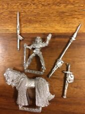 Wood Elves Mounted General Spear  & Broadsword  80s Metal Elf Games Workshop OOP