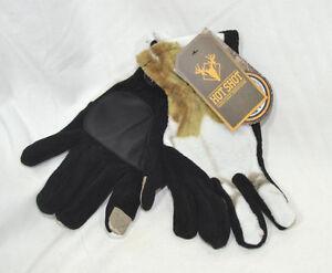 Realtree Xtra Hot Shot White & Black Camo Touch Fleece Gloves XS S M L XL or XXL