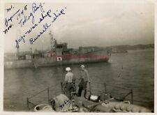 *WWII photo- Captured Japanese Navy N--YUBOKAN Minelayer? ship-TOKYO BAY Japan*