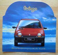 RENAULT TWINGO 1 1992 1993 molto grande formato mercato francese LANCIO BROCHURE DI VENDITA