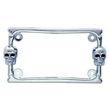 Chrome Motorcycle License Plate Frame Skull Harley License Plate Frame