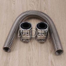 Stainless Steel Radiator Hose Kit 24 inch hose universal chrome ends AU