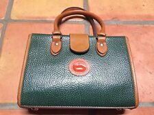 dooney and bourke green and tan pebbled leather mini doctor bag
