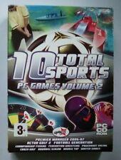 10 Total Sport PC Spiele Volume 2 für PC Fußball Golf Wrestling Angeln Racing