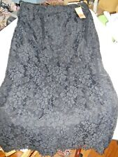 Vintage Gunne Sax Scott & Jessica McClintock Black Lace Pencil Skirt Nos w/Tags