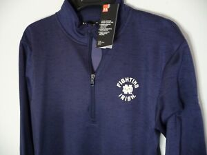 New Under Armour University of Notre Dame Irish men's large jacket L zipper blue