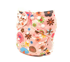Modern Cloth Nappies Reusable  Adjustable Girly Diaper Size (0-2 years) (D 238)
