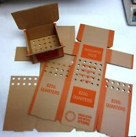 Brand New Empty Quarter Coin Roll Boxes (N.F. String)