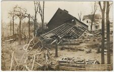 1910s Tornado Destroys Barn & Trees Real Photo Postcard