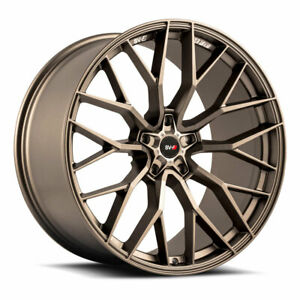 "22"" SAVINI SV-F2 BRONZE CONCAVE WHEELS RIMS FITS DODGE CHALLENGER RT SE"