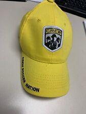 "Columbus Crew Yellow MLS Hat ""Crew Soccer Nation"" Adult Adjustable Mohrs Brand"