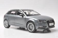 Audi A3 sportback car model in scale 1:18 gray