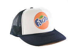 Fanta orange soda Trucker Hat mesh hat snapback hat navy