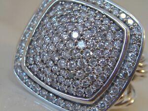 $2950 DAVID YURMAN SS LARGE ALBION DIAMOND RING