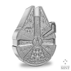 2021 Niue $2 Star Wars Millennium Falcon Shaped 1 oz Silver Coin - 5,000 Made