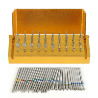 30 Pcs Dental Diamond Burs Drill Disinfection Block High Speed Handpieces Holder