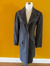 ASTUCES FRANCE Gorgeous Dark Grey Wool Blend Long Coat Size 2