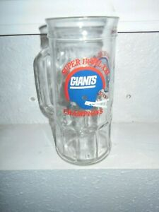 New York Giants Super Bowl 29 Champions Glass Mug