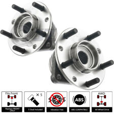 2x 91-97 GMC Sonoma 4WD W/ TONG RING FRONT WHEEL HUB W/ ABS SENSOR STUD ASSEMBLY