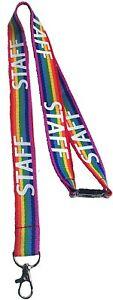 20mm STAFF Rainbow Print Lanyard With Safety Breakaway