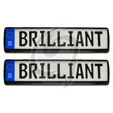 2x Brilliant Noir Support de plaque d'IMMATRICULATION Mercedes 190+ E + D +