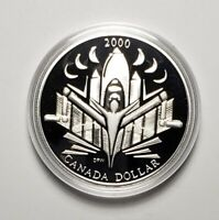 Canada 2000 Voyage Of Discovery .925 Sterling Silver $1.00 One Dollar Coin Proof