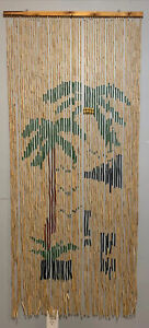 Palm Tree Beaded Curtain 71x32