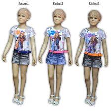 Markenlose Kurzarm Mädchenkleider aus 100% Baumwolle