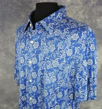 Nat Nast Mens Shirt Size 2XL Short Sleeve 100% Silk Floral Button Down NWT