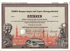 German 50 Marks bond Terrex-Rumpus Import and Export 1985 uncancelled