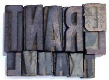 Letterpress Letter Wood Type Printers Block Lots Of 12 Typography Eb 23