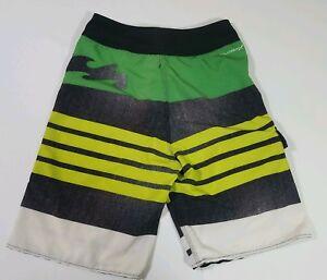 Billabong Platinum X Stretch Board Shorts Sz 26 Swim Green Yellow Black White