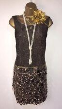 Vintage 20s style gatsby flapper charleston downton sequin beaded dress 8