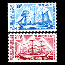 TAAF 1974 - Antarctic Ships Charcot's Antarctic Voyages - Sc C37/8 MNH