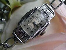 1929 Ladies Art Deco Enamel Bulova Watch ~ Runs