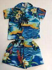 Vintage Ky's Hawaiian Boys Size 6 Month Shirt & Shorts Set Top
