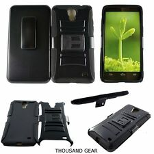 For Alcatel One Touch Pop Mega LTE A995L Kickstand Clip Holster Case Black