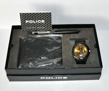 Boxed Police Mens Watch, Wallet & Pen