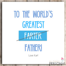 Personalised Fathers Day Card - Greatest Farter - Father's Day Funny Cheeky Joke